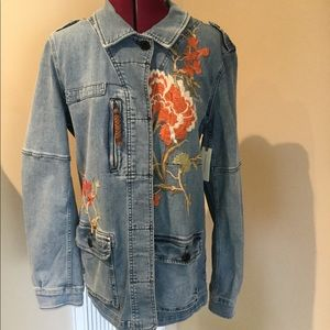 NWT Pilcro Denim Embroidered Jacket